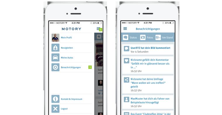 Die App zeigt stets die aktuelle Anzahl von Nachrichten und Benachrichtigungen